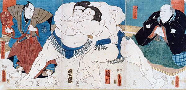 Sumo Geschichte - historische Darstellung 1851