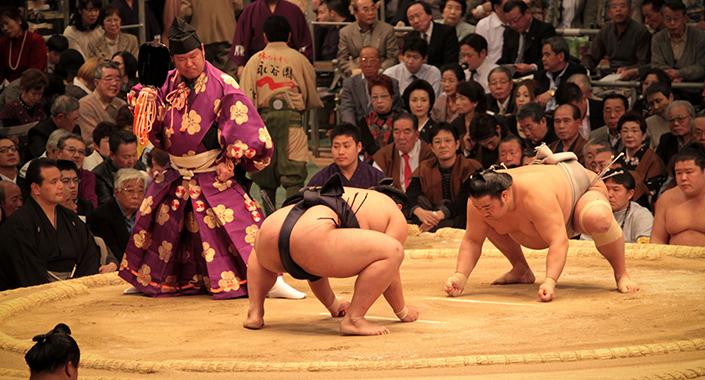 Sumo Kampf - vor dem Kampf