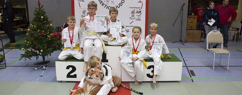 Judogreifen erfolgreich bei Weihnachtsturnier